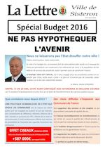 La lettre de Sisteron n°2 - avril 2016 (special budget)