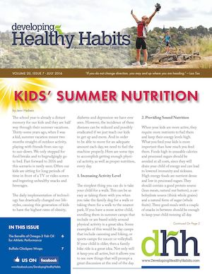 Developing Healthy Habits - July 2016