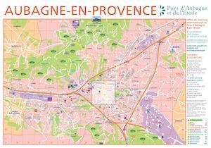 Calam o plan de la ville d 39 aubagne recto dition 2016 - Office de tourisme aubagne ...