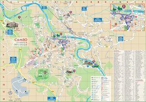 Calam o plan de ville de cambo les bains pays basque - Office du tourisme de cambo les bains ...