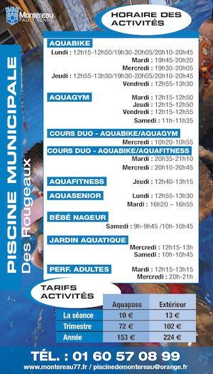 Piscine municipale : activités et tarifs 2016