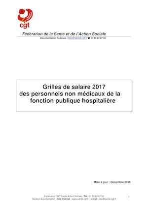 Calam o grilles 2017 fph - Grille de la fonction publique hospitaliere ...
