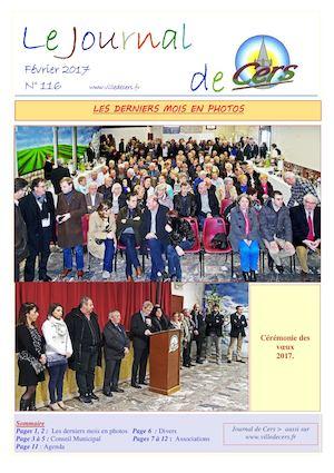 JOURNAL DE CERS - FEVRIER 2017