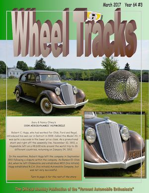 Wheel Tracks March 2017 | Vermont Auto Enthusiasts