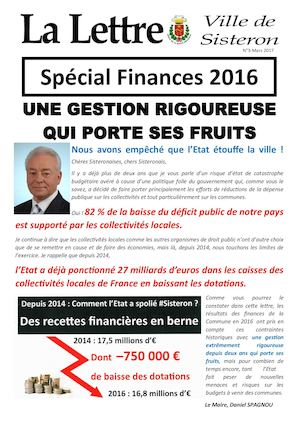 La lettre de Sisteron n°3 - mars 2017 (spécial finances)