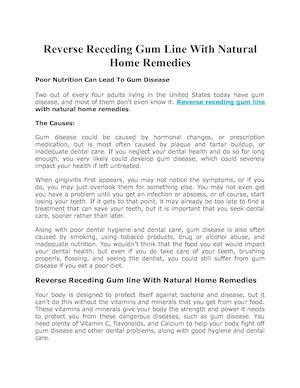 Reverse Receding Gum Line With Natural Home Remedies