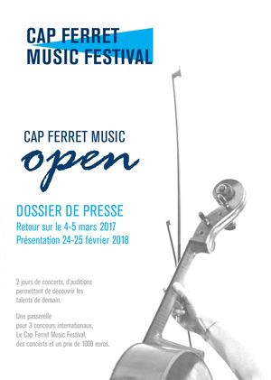 Cap Ferret Music Open 2017  2018