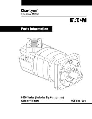 Calam o char lynn disc valve motors parts information for Char lynn 6000 series motor specs