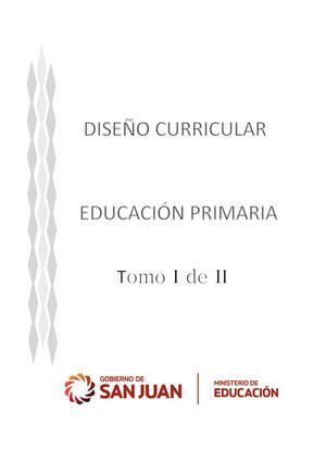 Calam o dise o curricular educaci n primaria tomo i 1 for Diseno curricular primaria