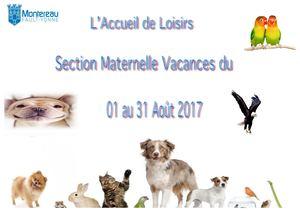 Section Maternelle Aout - Accueil de Loisirs