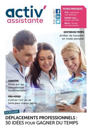Activ Assistante Magazine Numéro 18 Juin 2017