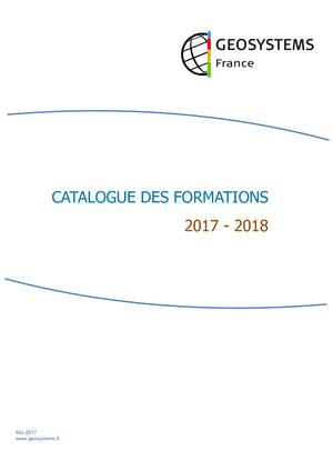 Catalogue Formation Geosystems 2017