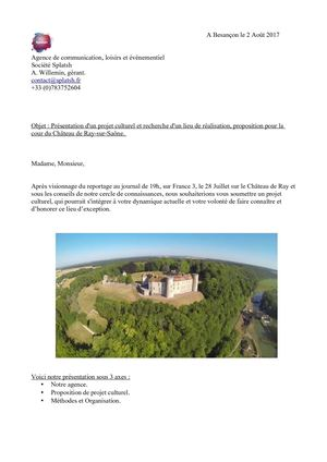 Proposition Chateau De Ray