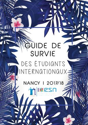Guide De Survie 2017/18 ESN Nancy