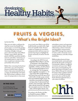 Developing Healthy Habits - September 2017