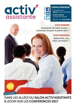 Activ Assistante Magazine Numéro 17 septembre 2017