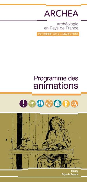 Programme des animations ARCHÉA oct2017-mars2018