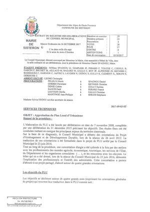 PLU - DELIBERATION DU CONSEIL MUNICIPAL