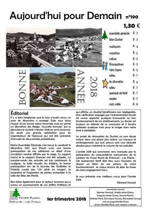 AUJOURD'HUI POUR DEMAIN 190