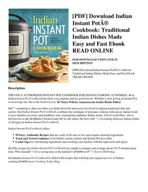 Calamo pdf download indian instant pot cookbook pdf download indian instant pot cookbook traditional indian dishes made easy and forumfinder Choice Image