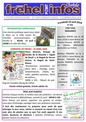 Journal municipal Fréhel.info du 13 avril 2018