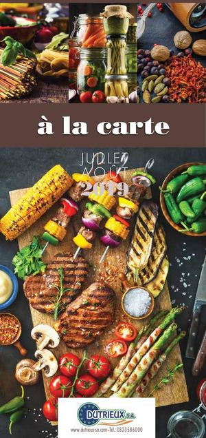 Catalogue A LA CARTE