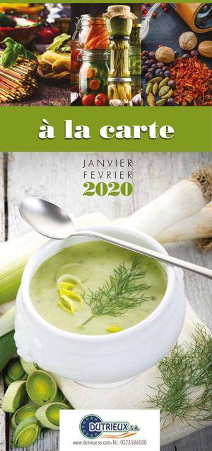 Catalogue A LA CARTE