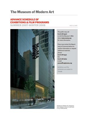MOMA Advanced Schedule