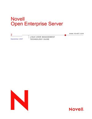 NOVELL LINUX USER MANAGEMENT TECHNOLOGY GUIDE