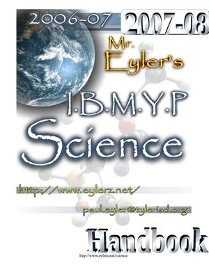 Eyler IBMYP Science 6th-8th Handbook