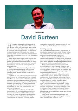 The Gurteen Perspective