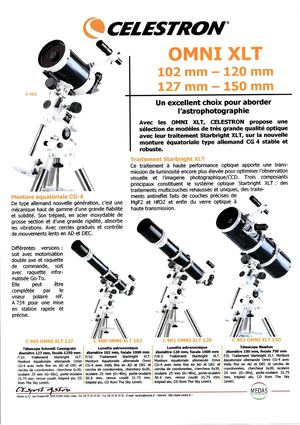 Ol'Optic : Celestron OMNI 102mm, 120mm, 127mm, 150mm