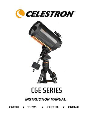 Ol'Optic : Télescope Celestron CGE 1100 (XLT), Mode d'emploi Anglais