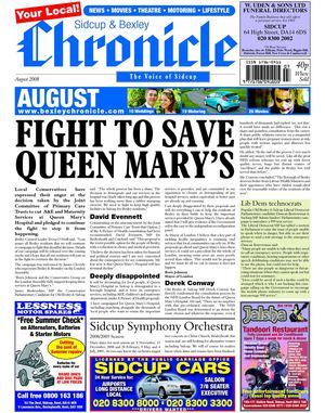 Sidcup & Bexley Chronicle August 2008