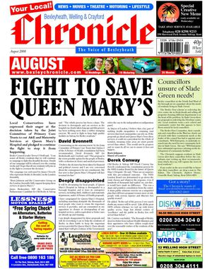 Bexleyheath, Welling & Crayford Chronicle August 2008