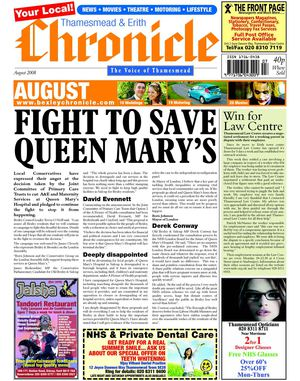 Thamesmead & Erith Chronicle August 2008