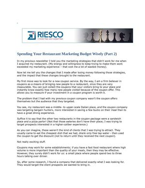 Restaurant Marketing Strategies July Newsletter