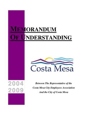 2009 Aug31 - Costa Mesa City Employees Association MOU