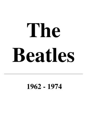 The Beatles - All Songs 1962-1974 [Piano, sheet music, score, partition]