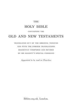 Holy Bible - King James Version - With Notes