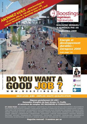 Boostings Septembre 2008 - Emplois haute qualification