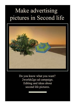 Make advertising pictures in Second life