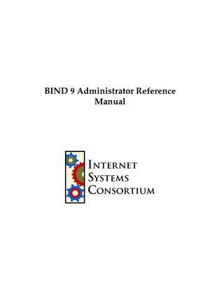 BIND 9.5 Administrator Reference Manual