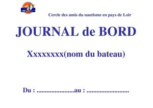 Journal de bord format PDF