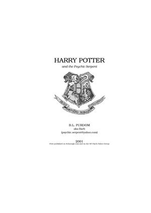 Fanfiction Harry Potter and the Psychic Serpent (Book5)