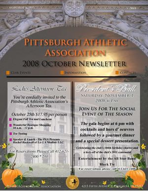 Pittsburgh Athletic Association 2008 October Newsletter