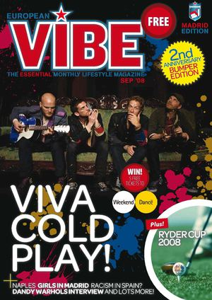 European Vibe Magazine Sept. 2008 - Viva Cold Play