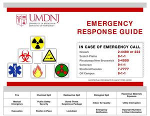 UMDNJ Emergency Response Guide