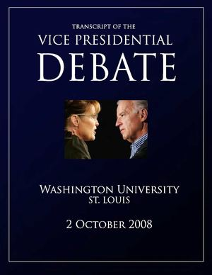 US Vice Presidential Debate transcript