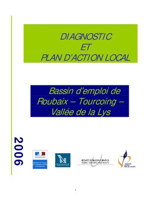 DIAGNOSTIC & PLAN D'ACTIONS LOCAL - Bassin d'Emloi ROUBAIX-TOURCOING et Vallée de la lys